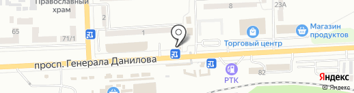 Макей на карте Макеевки