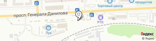 Магазин зоотоваров на проспекте Генерала Данилова на карте Макеевки
