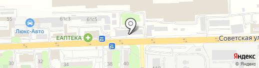 ЖТК на карте Балашихи