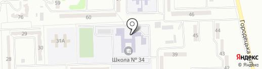 Макеевская общеобразовательная школа I-III ступеней №34 на карте Макеевки