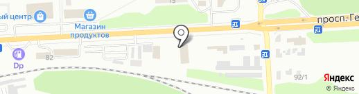 Централь на карте Макеевки
