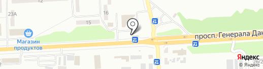 Стопка на карте Макеевки