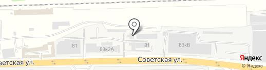 Шиномонтажная мастерская на Советской на карте Железнодорожного