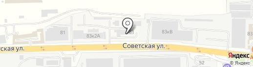 КПМ на карте Балашихи