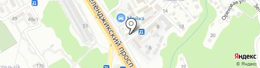 Автодрайв на карте Геленджика