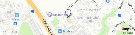 Автодевайс на карте Геленджика