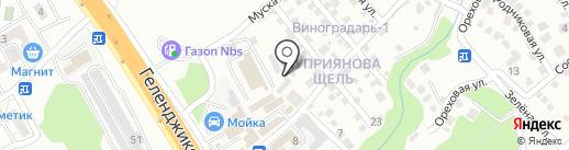 Магазин автозапчастей для ГАЗ и УАЗ на карте Геленджика
