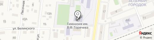 Удельнинская гимназия на карте Удельной