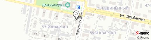 Клубничка на карте Макеевки