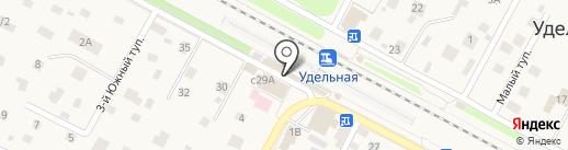 Магазин белорусских колбас на карте Удельной