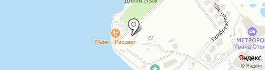 Толстый мыс на карте Геленджика