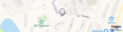 Милена на карте Родников