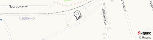 Продовольственный магазин на Линейной на карте Моспино