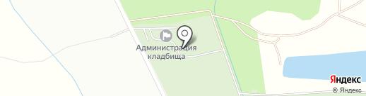 Новодеревенское кладбище на карте Балашихи
