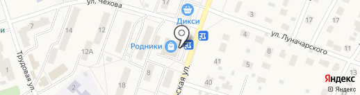 Кокетка на карте Родников
