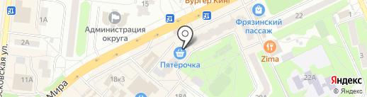 Проспект М на карте Фрязино