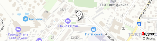 Хижина на карте Геленджика
