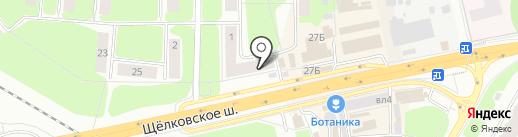 Три печатки на карте Щёлково