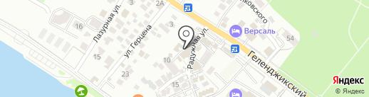 Терем на карте Геленджика