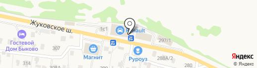 Установочный центр по автостеклам на карте Быково