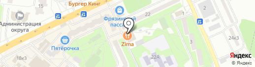 Славяночка на карте Фрязино