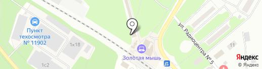 Изба на карте Щёлково