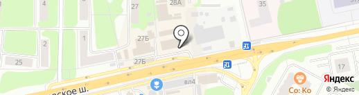 Силуэт на карте Щёлково