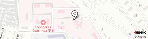 Родильный дом, Городская больница №6 на карте Макеевки