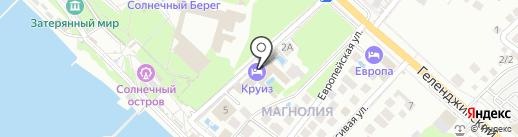 Круиз на карте Геленджика