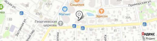 Дедал–сервис на карте Геленджика