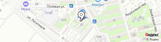 Магазин тканей на Полевой на карте Геленджика