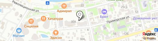 Олимп на карте Геленджика