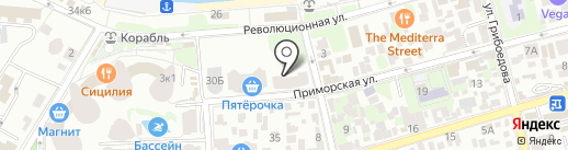 КБ Кубань Кредит на карте Геленджика