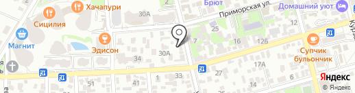 Пивторг на карте Геленджика