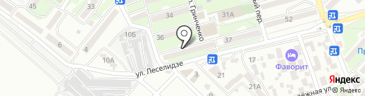 Юго-Западный банк Сбербанка России на карте Геленджика
