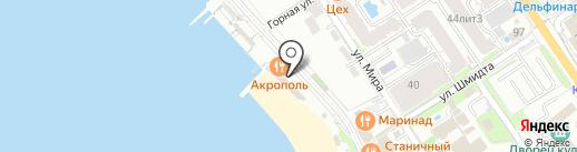 Красная Талка на карте Геленджика