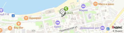 Компас на карте Геленджика