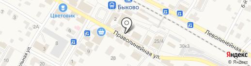 Волга на карте Быково
