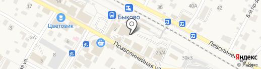 Радуга на карте Быково