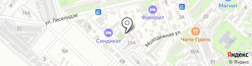 Городское на карте Геленджика