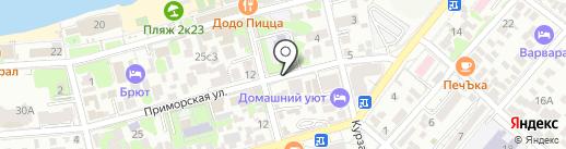 Велогел на карте Геленджика