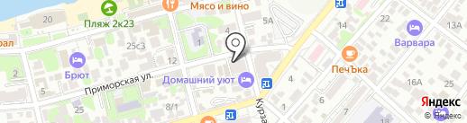Дива на карте Геленджика