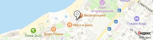 Магазин курортных товаров на карте Геленджика