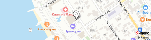 Дружба на карте Геленджика