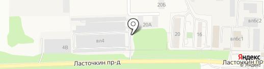 Ласточка на карте Балашихи