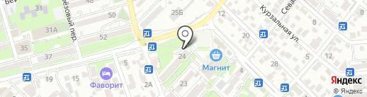 Почтовое отделение №15 на карте Геленджика