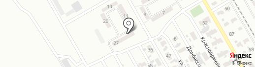 Баракад на карте Макеевки