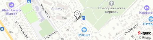 Бион на карте Геленджика