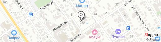 Плеяда на карте Геленджика