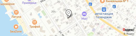 Sushi-Market на карте Геленджика